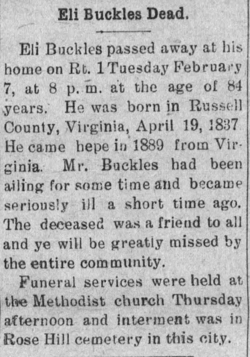 Russell County, Virginia in the Civil War - Obituaries and